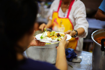 Food sharing in human societies can help homeless people, beggars.