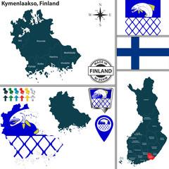 Map of Kymenlaakso, Finland