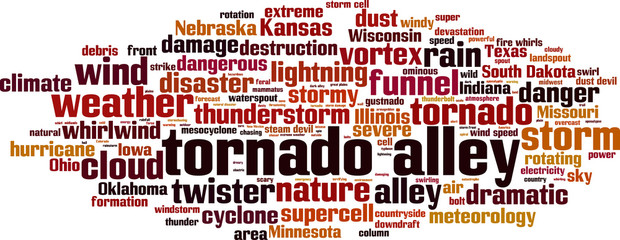 Tornado alley word cloud