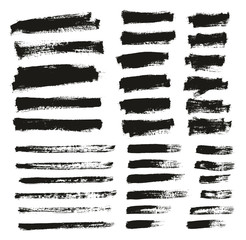 Paint Brush Thin Background & Lines High Detail Abstract Vector Background Mix Set 161