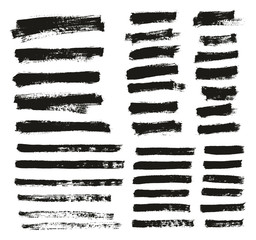 Paint Brush Thin Background & Lines High Detail Abstract Vector Background Mix Set 159