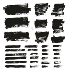 Paint Brush Thin Background & Lines High Detail Abstract Vector Background Mix Set 154