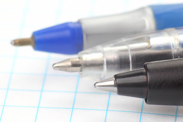 the tip of a pen for the background of the white paper
