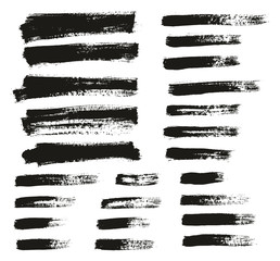 Paint Brush Thin Background & Lines High Detail Abstract Vector Background Mix Set 133