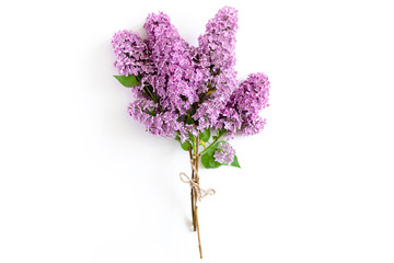 Papiers peints Lilac Bouquet of lilac tied with twine