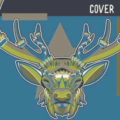 Deer. Wild deer. Vintage illustration typography t-shirt printing