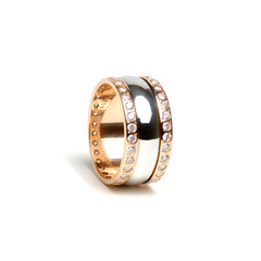 Golden ring isolated on the white