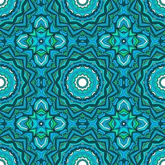 Floral Geometric Pattern for Fashion Design. Creative Vector Illustration. Color