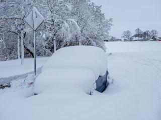 Winterchaos auf der Straße