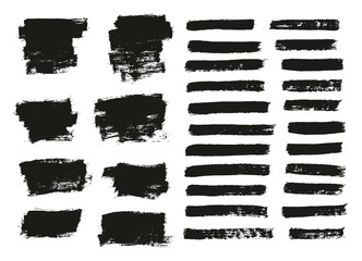 Paint Brush Thin Background & Lines High Detail Abstract Vector Background Mix Set 49