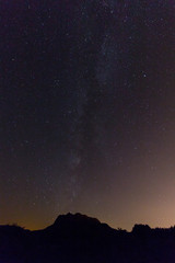 Milky way over the basque mountains.
