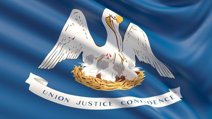 State of Louisiana flag. Flags of the states of USA.