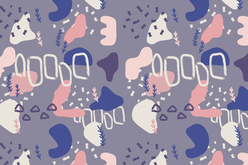 Abstract modern and stylish digital  background with different shapes. Memphis colorful pattern.