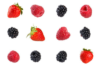 Collection of mixed berries.