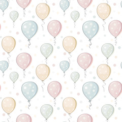balloons. Backing. Seamless pattern. Vector illustration.