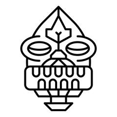 Tiki idol icon. Outline tiki idol vector icon for web design isolated on white background