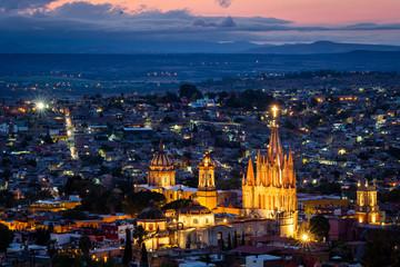 San Miguel de Allende at Dusk, Guanajuato, Mexico