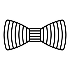 Line bow tie icon. Outline line bow tie vector icon for web design isolated on white background