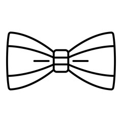 Man bow tie icon. Outline man bow tie vector icon for web design isolated on white background