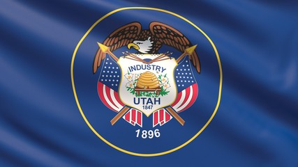 State of Utah flag. Flags of the states of USA.