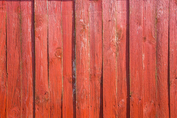 red wood plank background. detail of fence
