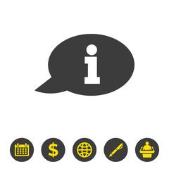 Information icon on white background.