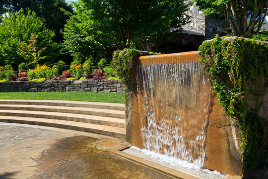 Water Fountain at North Carolina Arboretum in Asheville