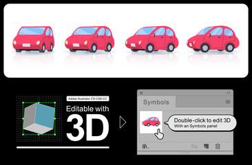 3D deformer car sedan type