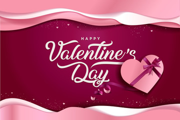 Valentines Day. Vector illustration concept for background, greeting card, website and mobile website banner, social media banner, marketing material.