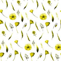 Seamless Floral watercolour pattern