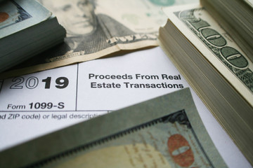 1099-S Proceeds From Real Estate Transactions Tax Form High Quality Stock Photo