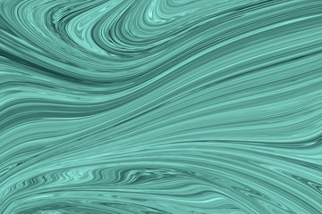 Liquid Abstract Marble Pattern With Mint Green or Malachite Graphics Color Art Form. Digital Background With Abstract Liquid Flow