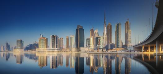 Door stickers Australia Panoramic view of Dubai Business bay, UAE