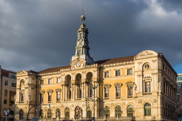 Bilbao city townhall, Biscay, Spain