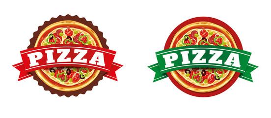 Pizza italian food label