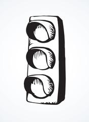 Traffic light. Vector drawing