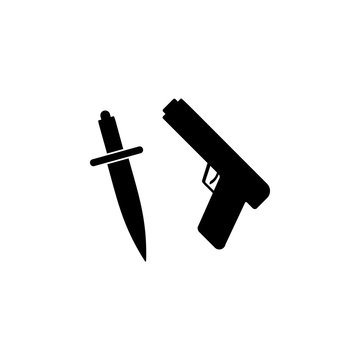 Weapon, knife, gun icon. Simple glyph vector of universal set icons for UI and UX, website or mobile application