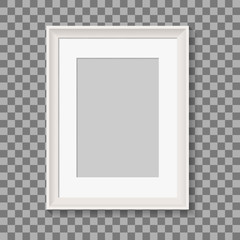 blank picture frame for photographs. vector realisitc mockup. design template on transparent background