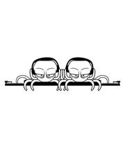 team 2 freunde paar mischpult dj pult auflegen platte vinyl musik party feiern club disko tanzen oktopus krake kopffüßer kalmar tentakel tintenfisch monster comic cartoon clipart lustig