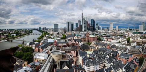 Frankfurt city aerial view Germany