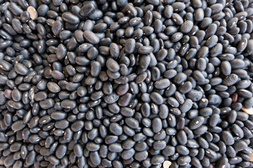 High angle view of black beans for sale at market