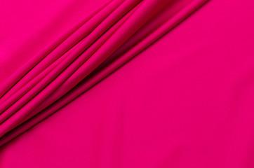 Cotton fabric, fuchsia satin