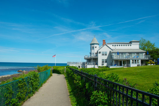 Historic mansion Anchorage By The Sea on Marginal Way in Ogunquit, Maine, USA.