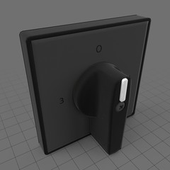Square power knob