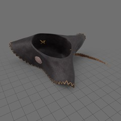 Upside down pirate hat