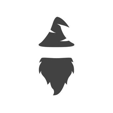 Wizard warlock logo vector