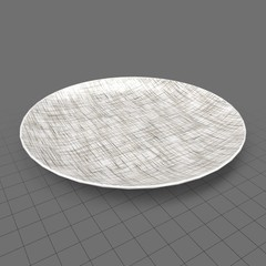Patterned salad plate