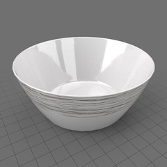 Patterned serving bowl