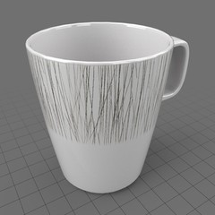 Patterned dinnerware cup