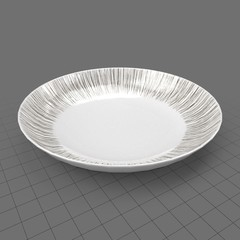 Shallow dinnerware bowl